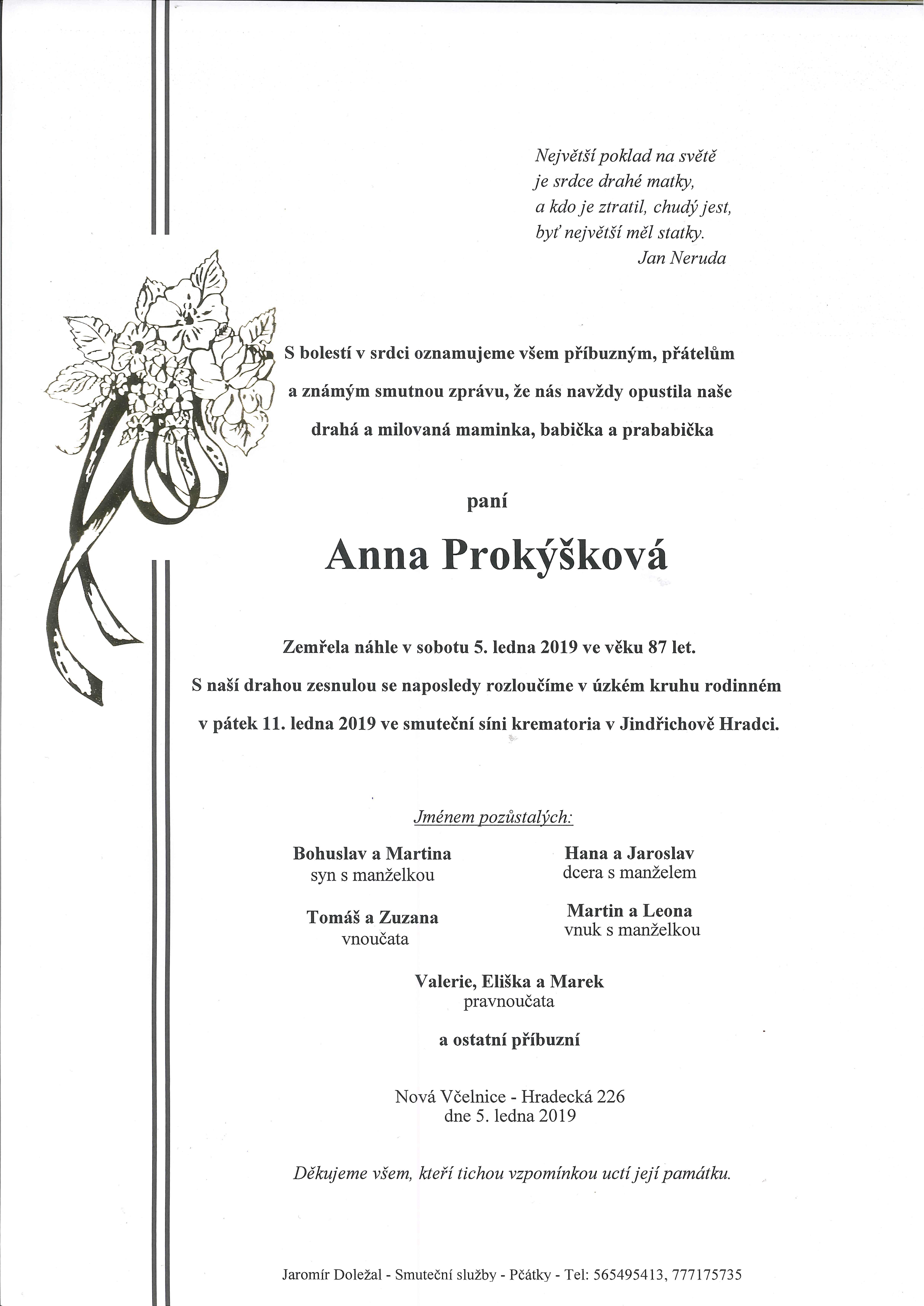 Anna Prokýšková