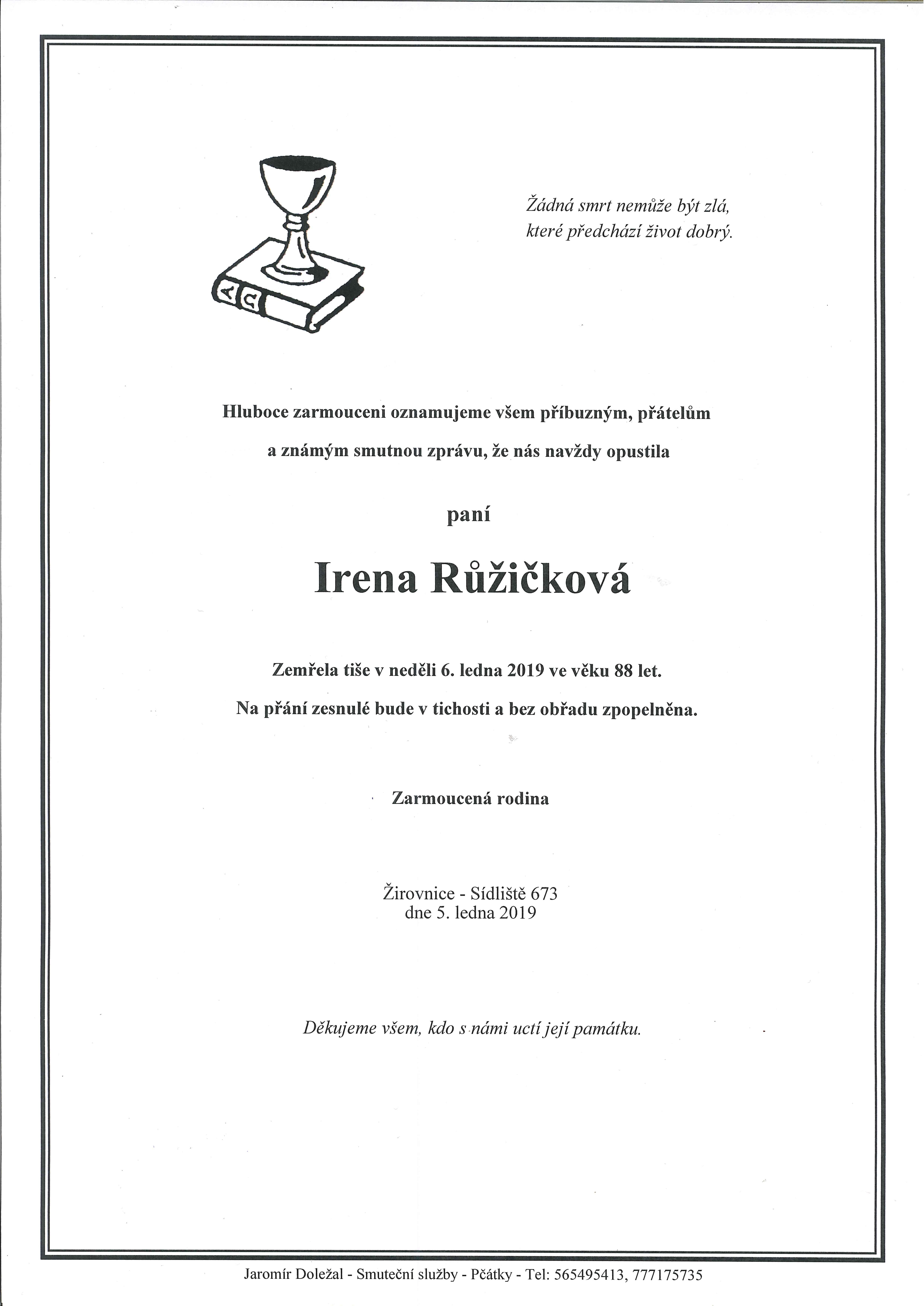 Irena Růžičková
