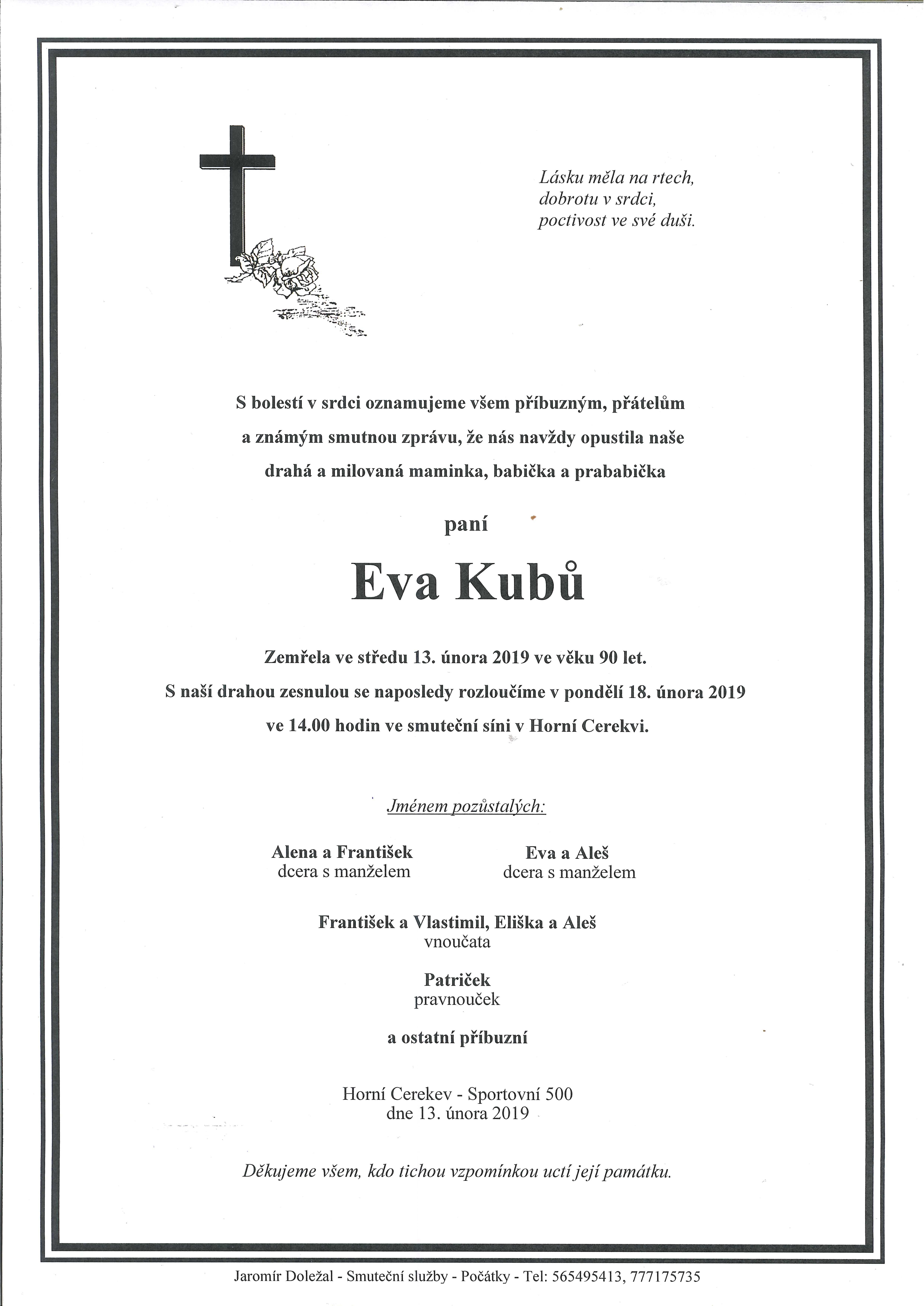 Eva Kubů