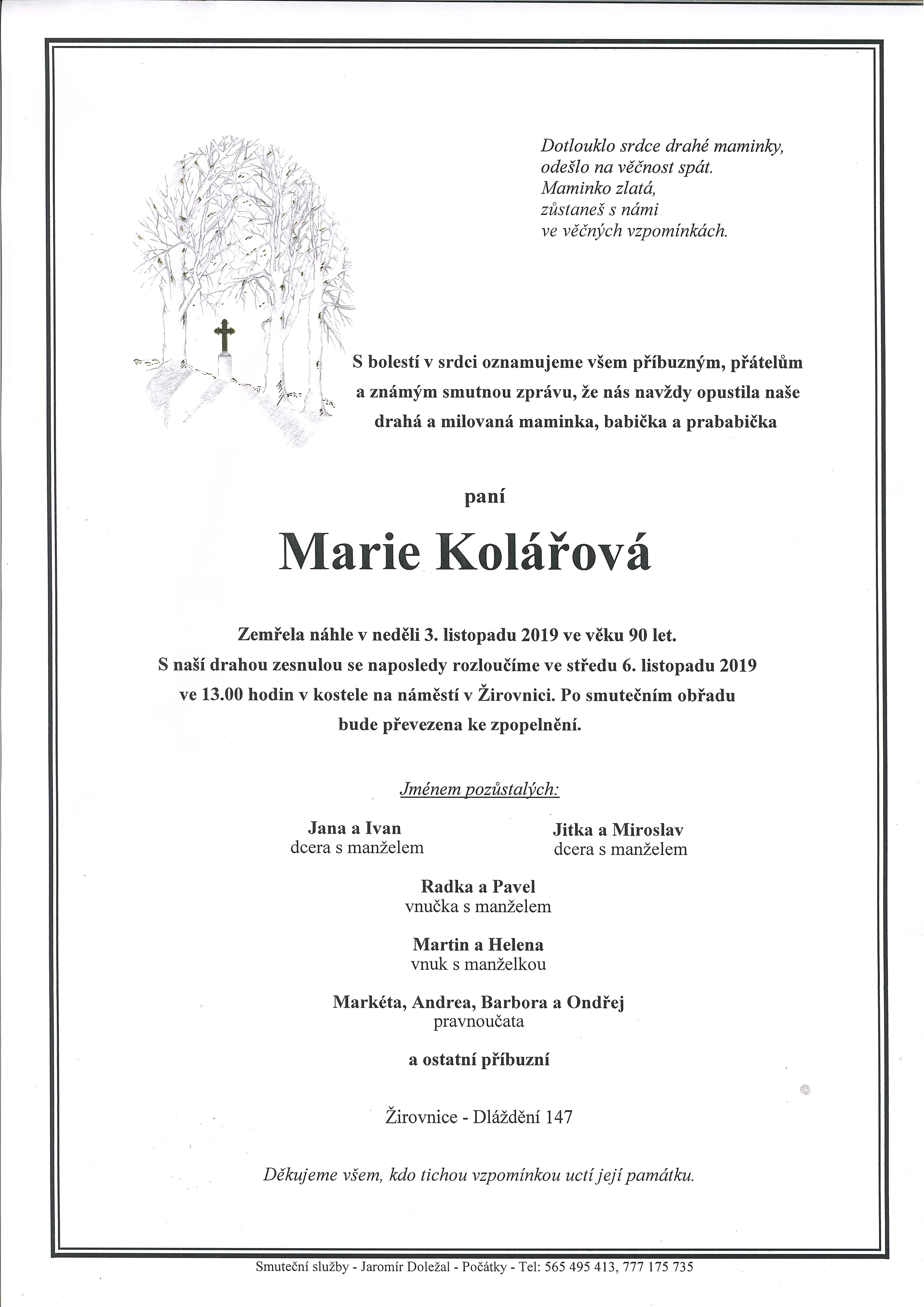 Marie Kolářová