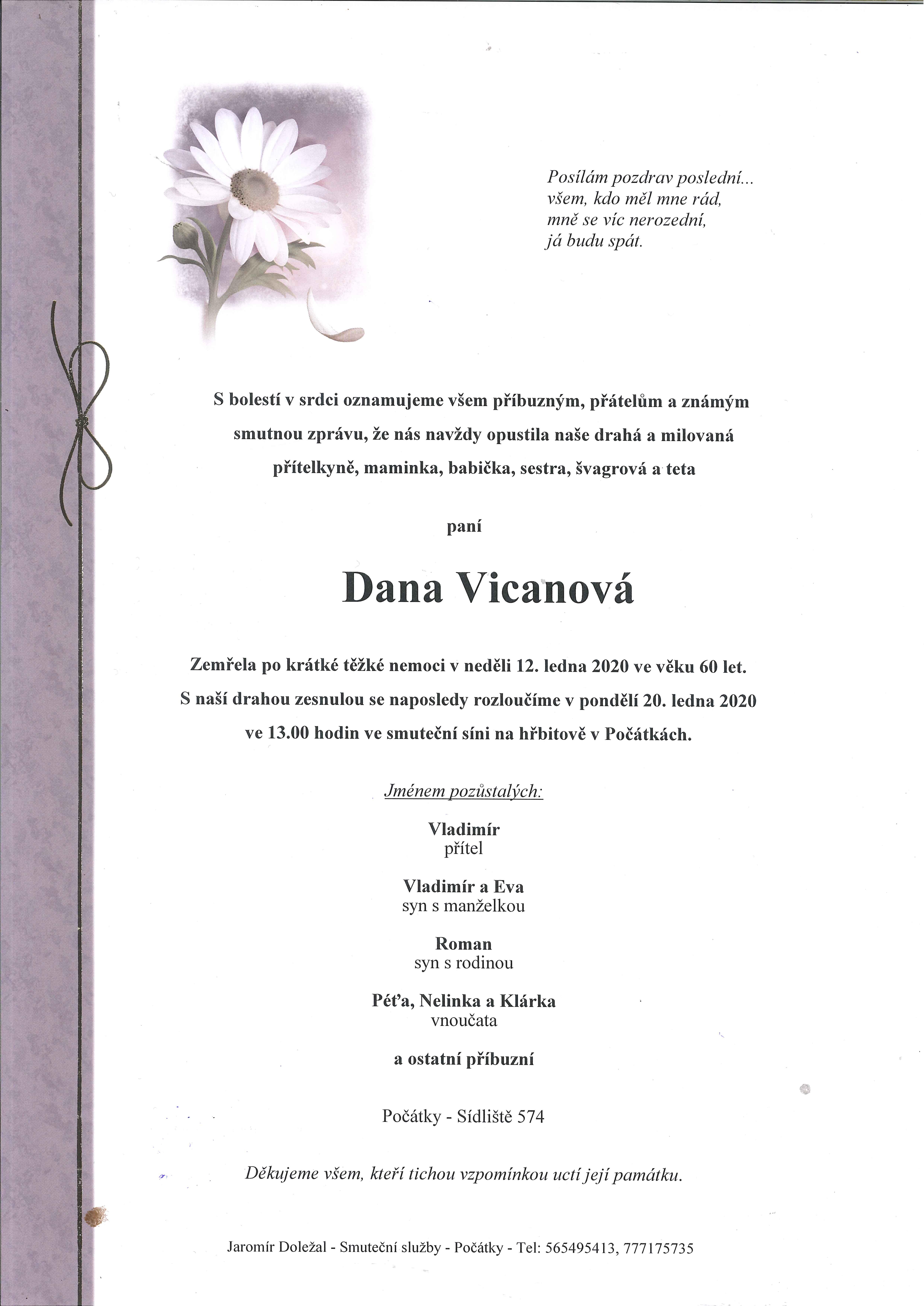 Dana Vicanová