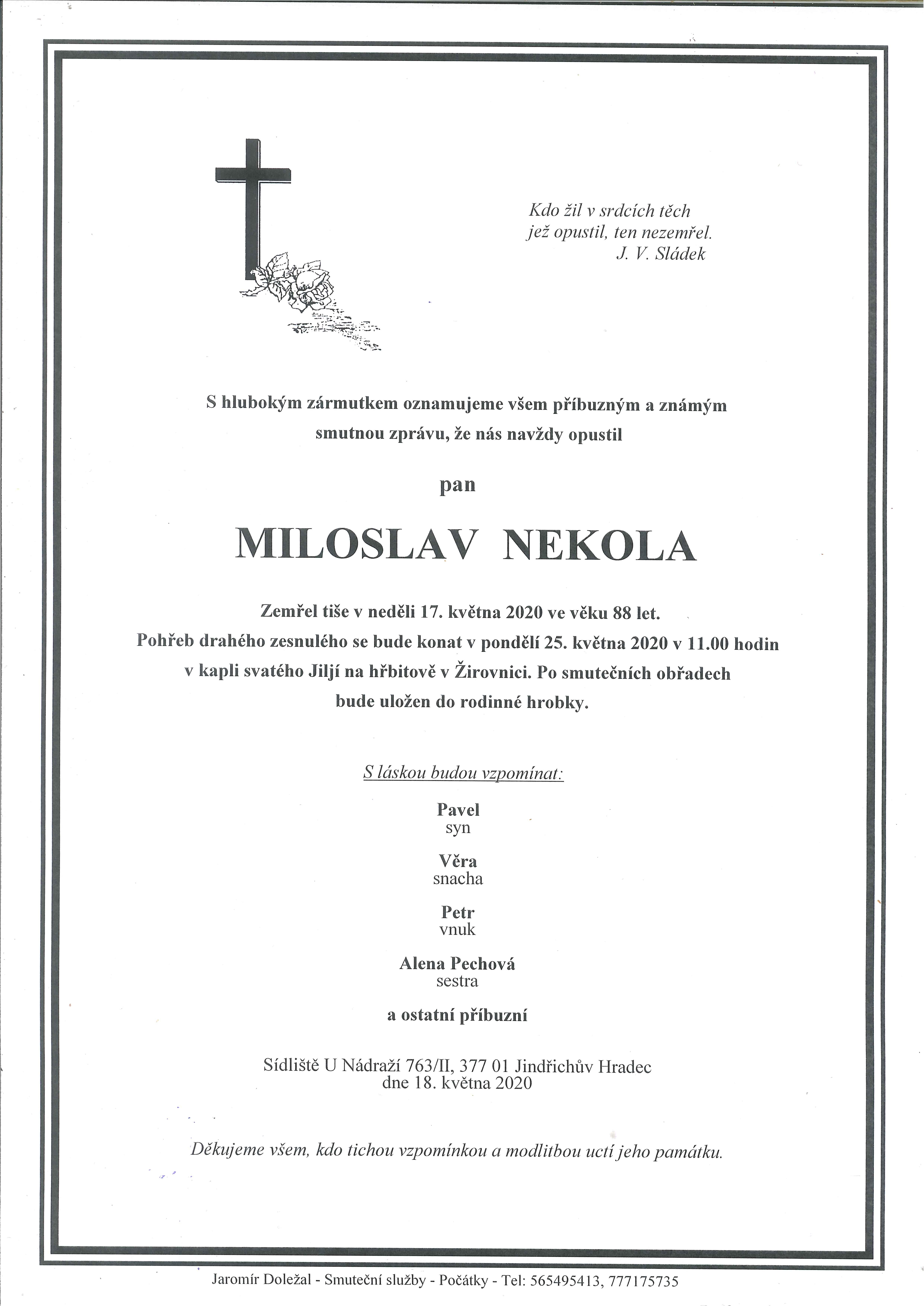 MILOSLAV NEKOLA