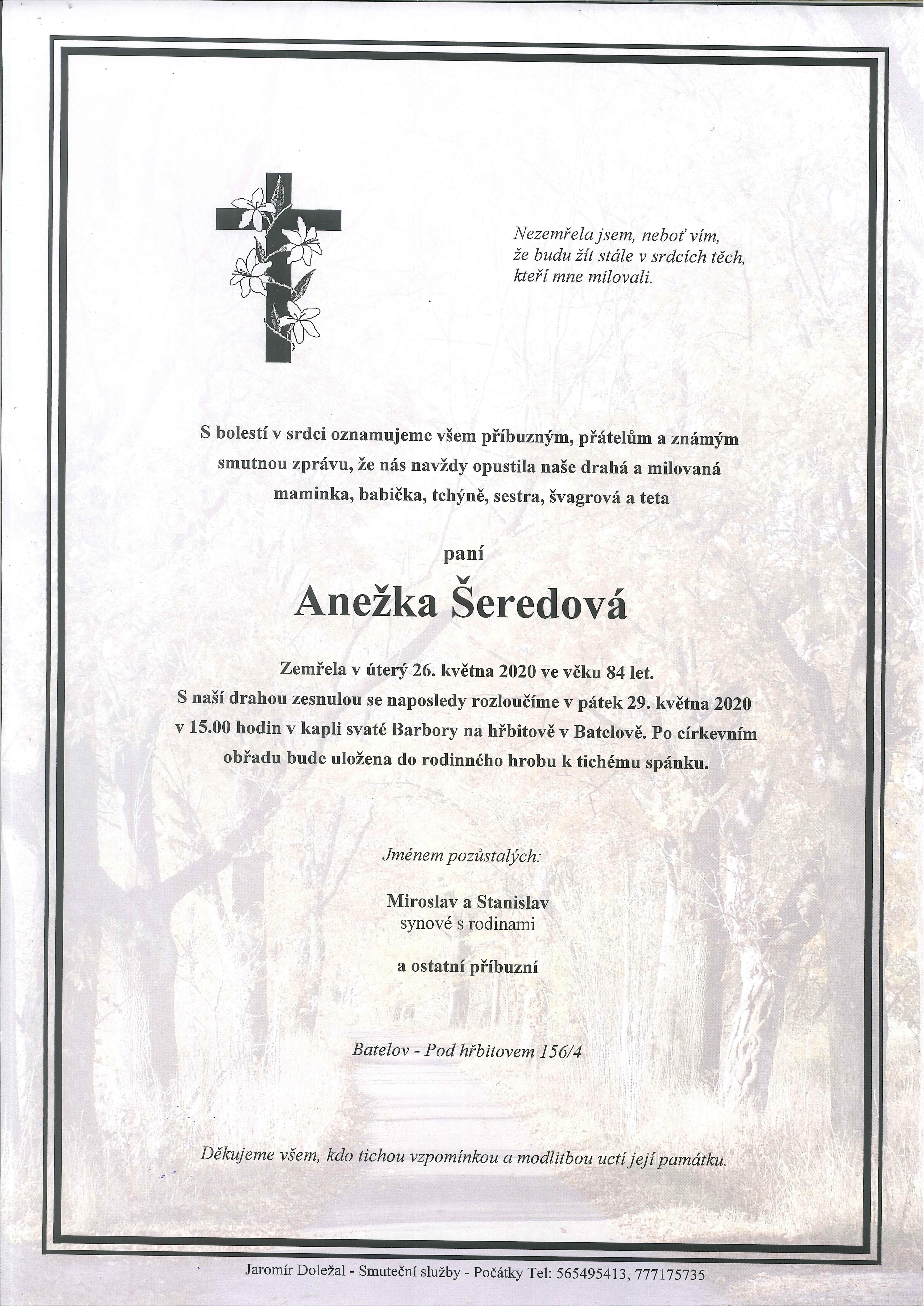 Anežka Šeredová