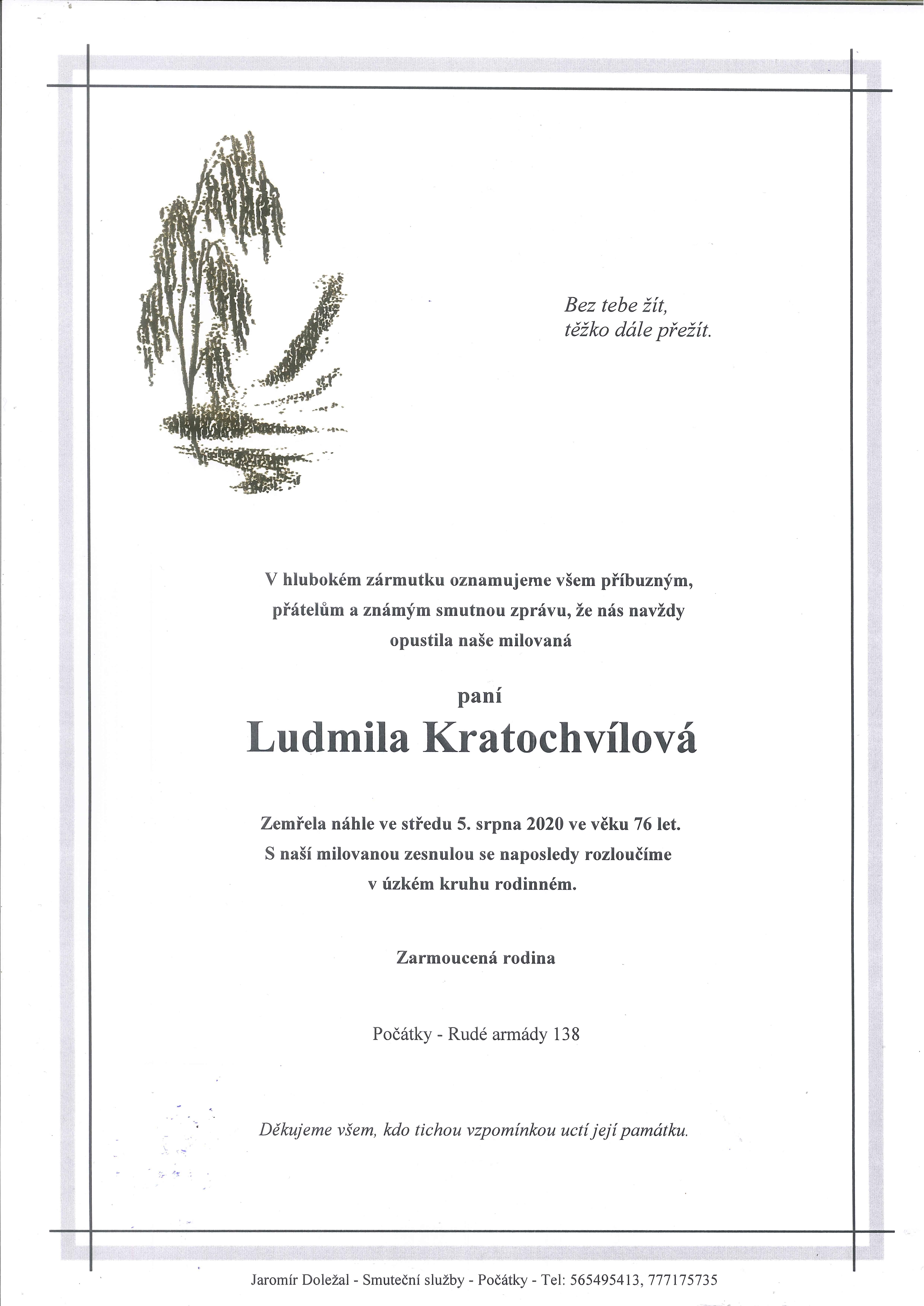 Ludmila Kratochvílová