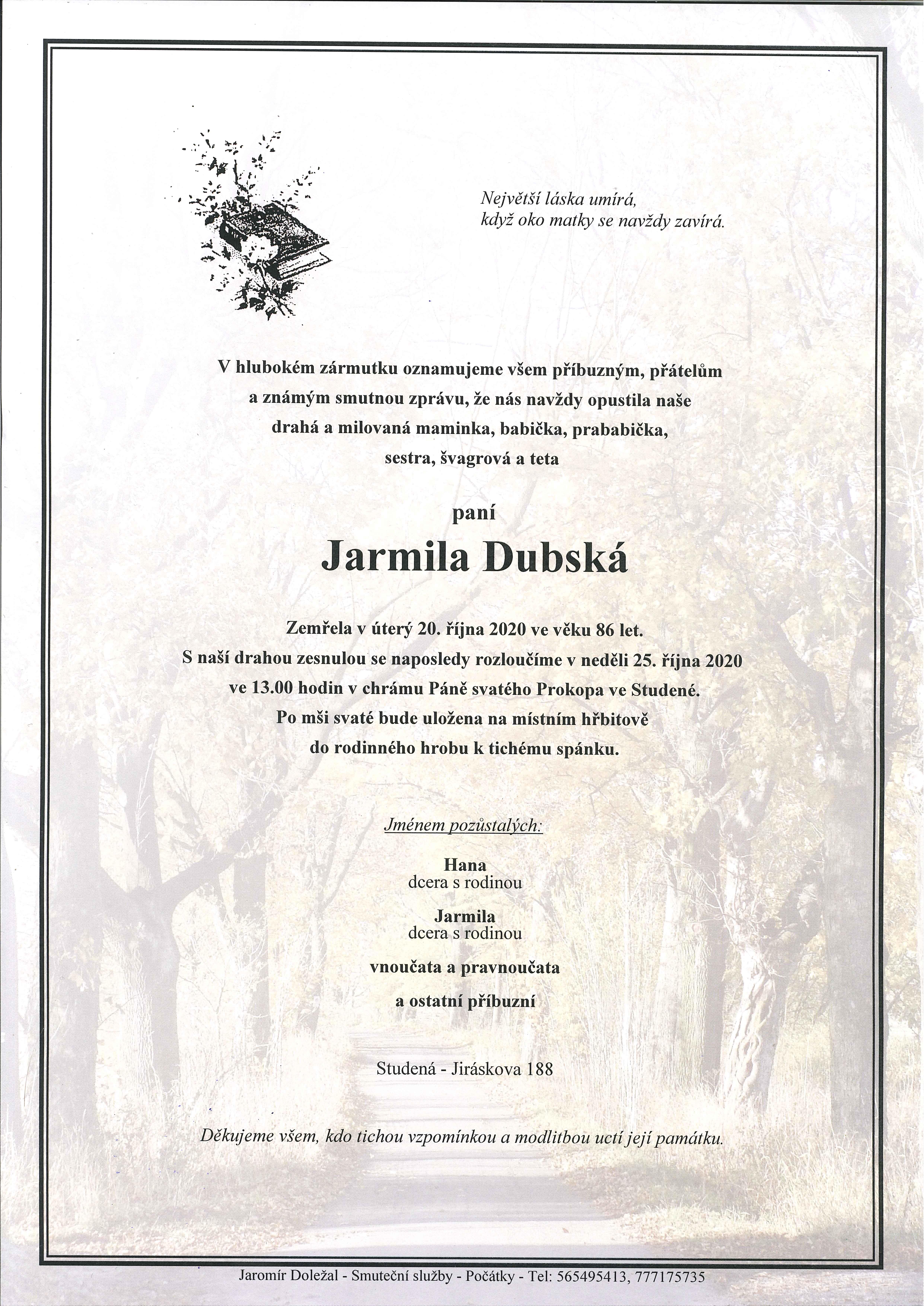 Jarmila Dubská