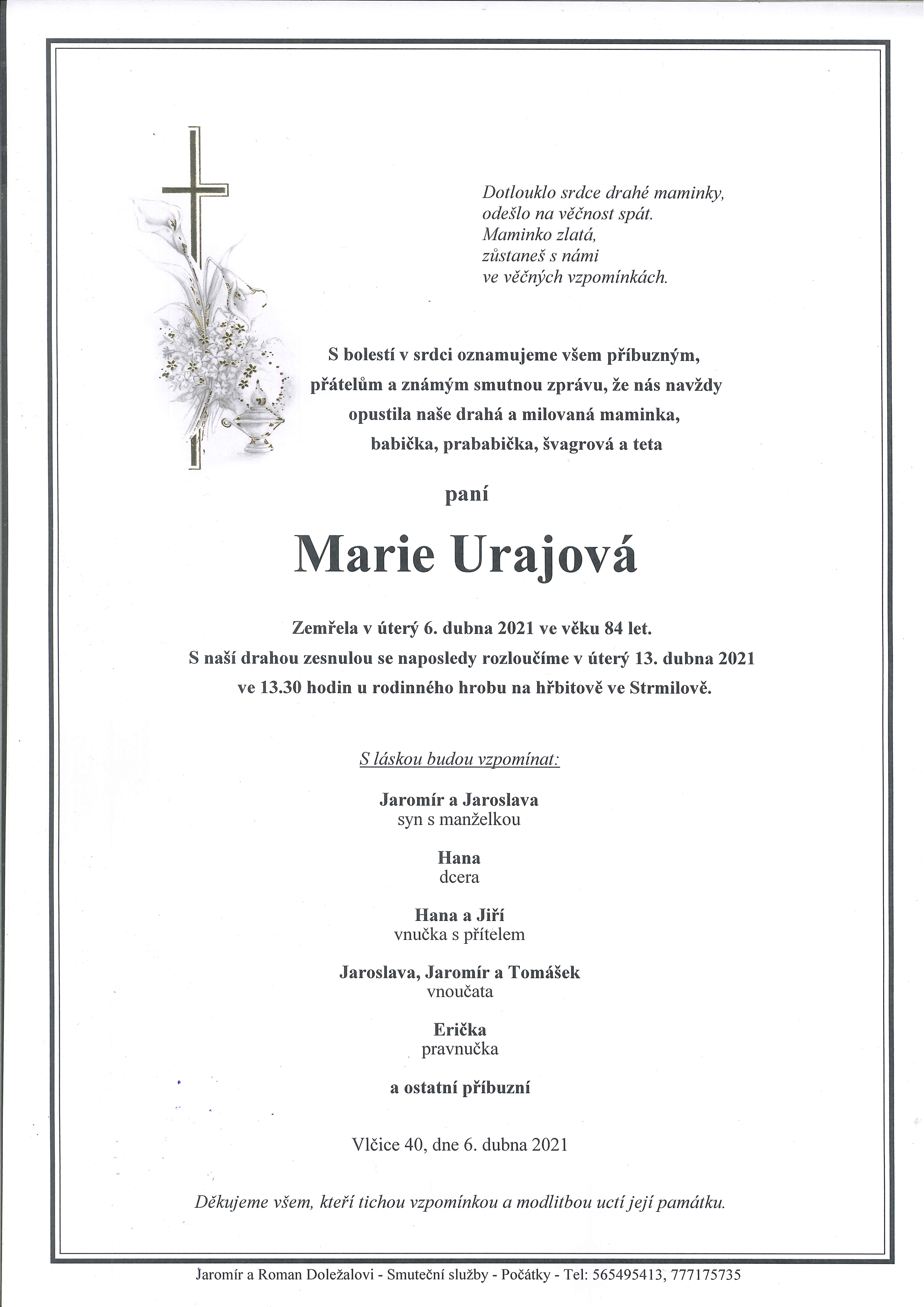 Marie Urajová