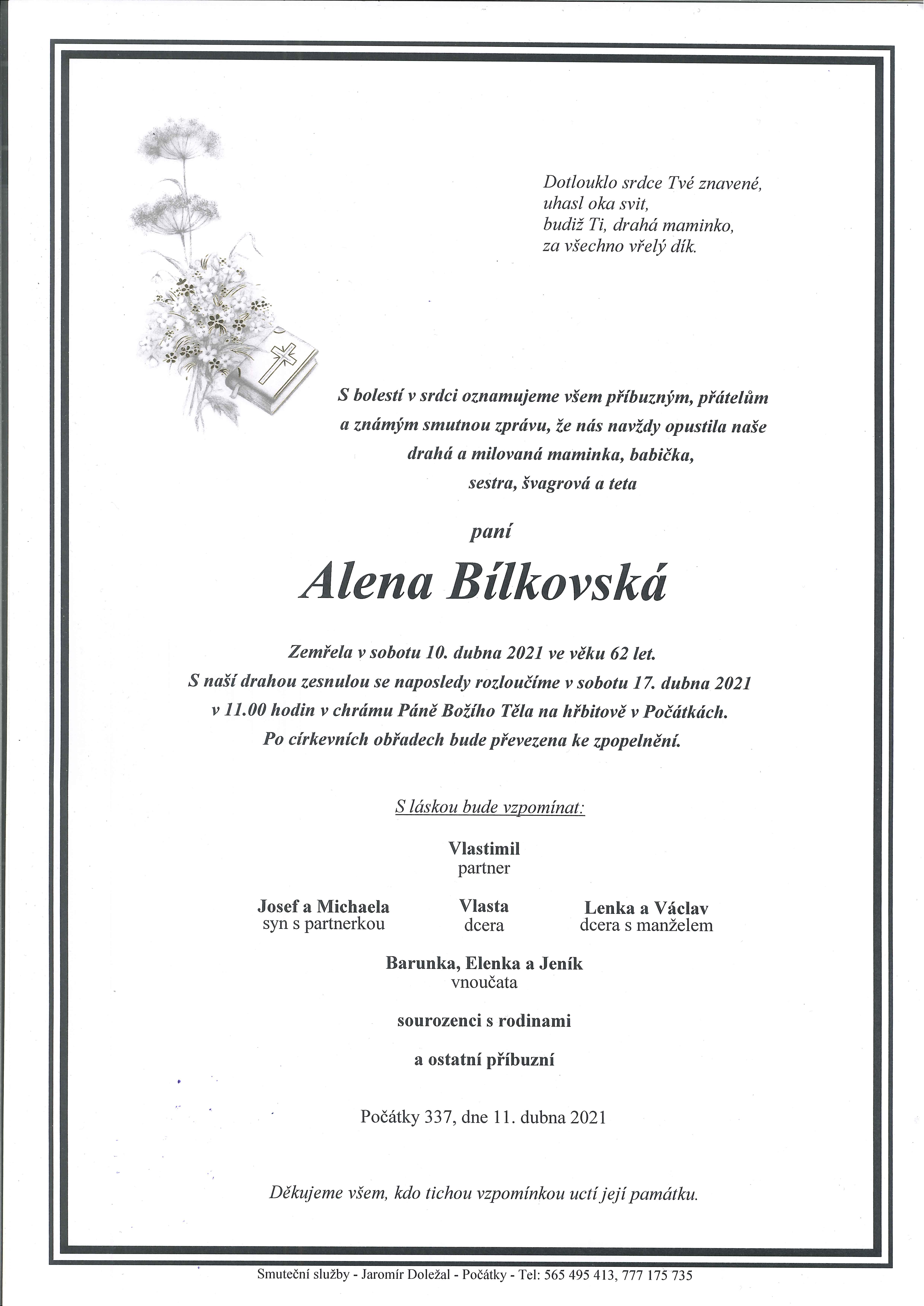 Alena Bílkovská