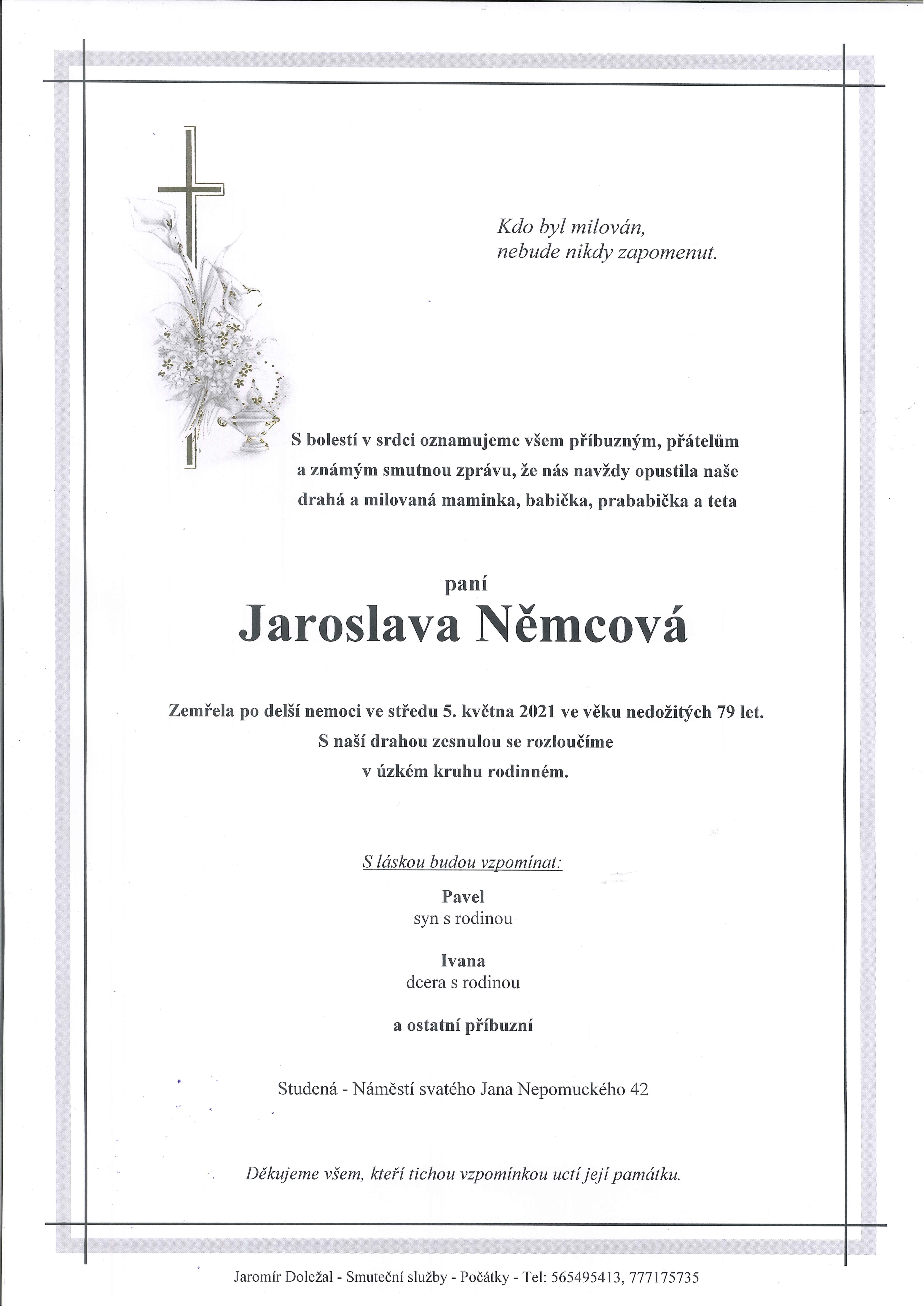 Jaroslava Němcová