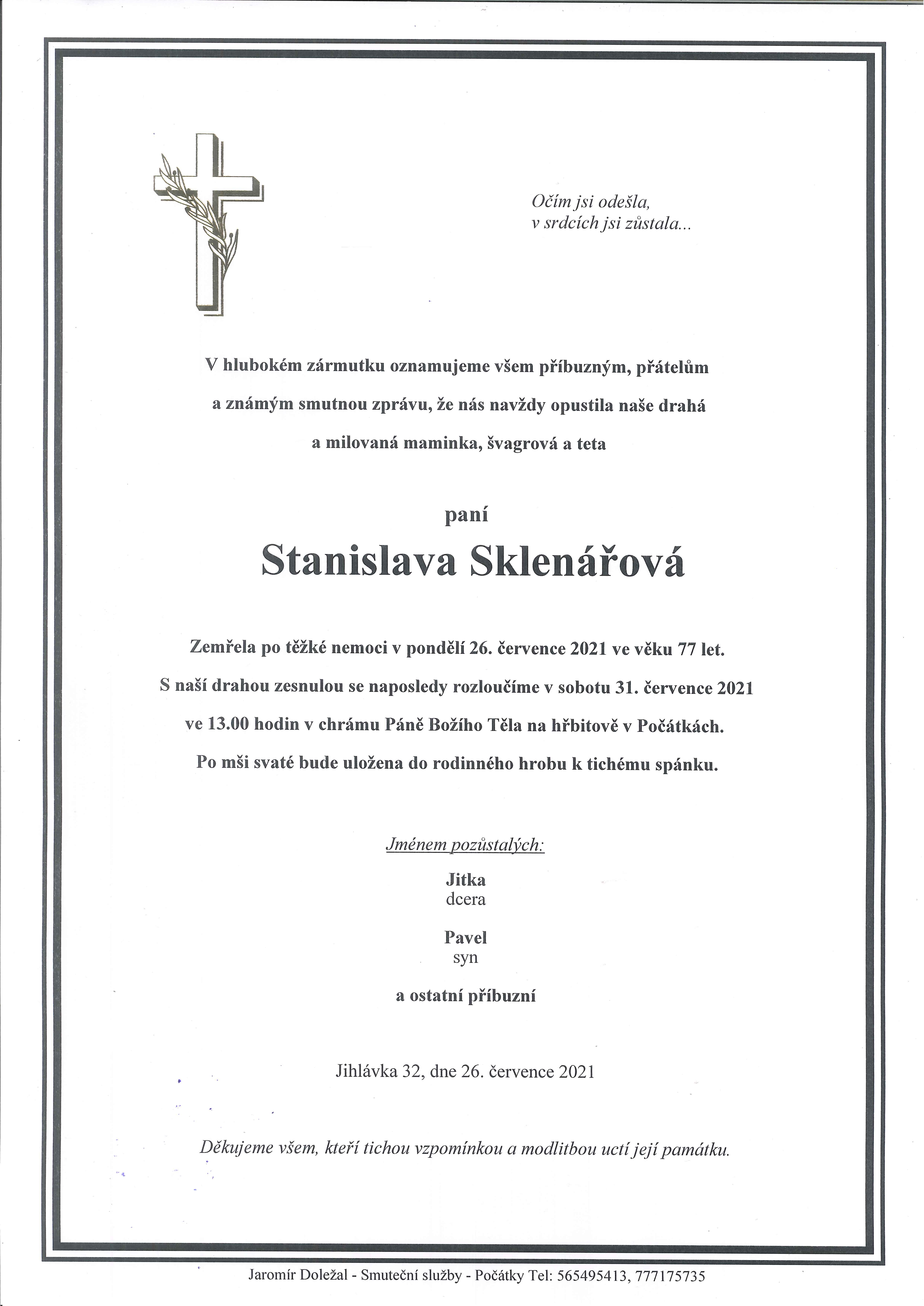 Stanislava Sklenářová