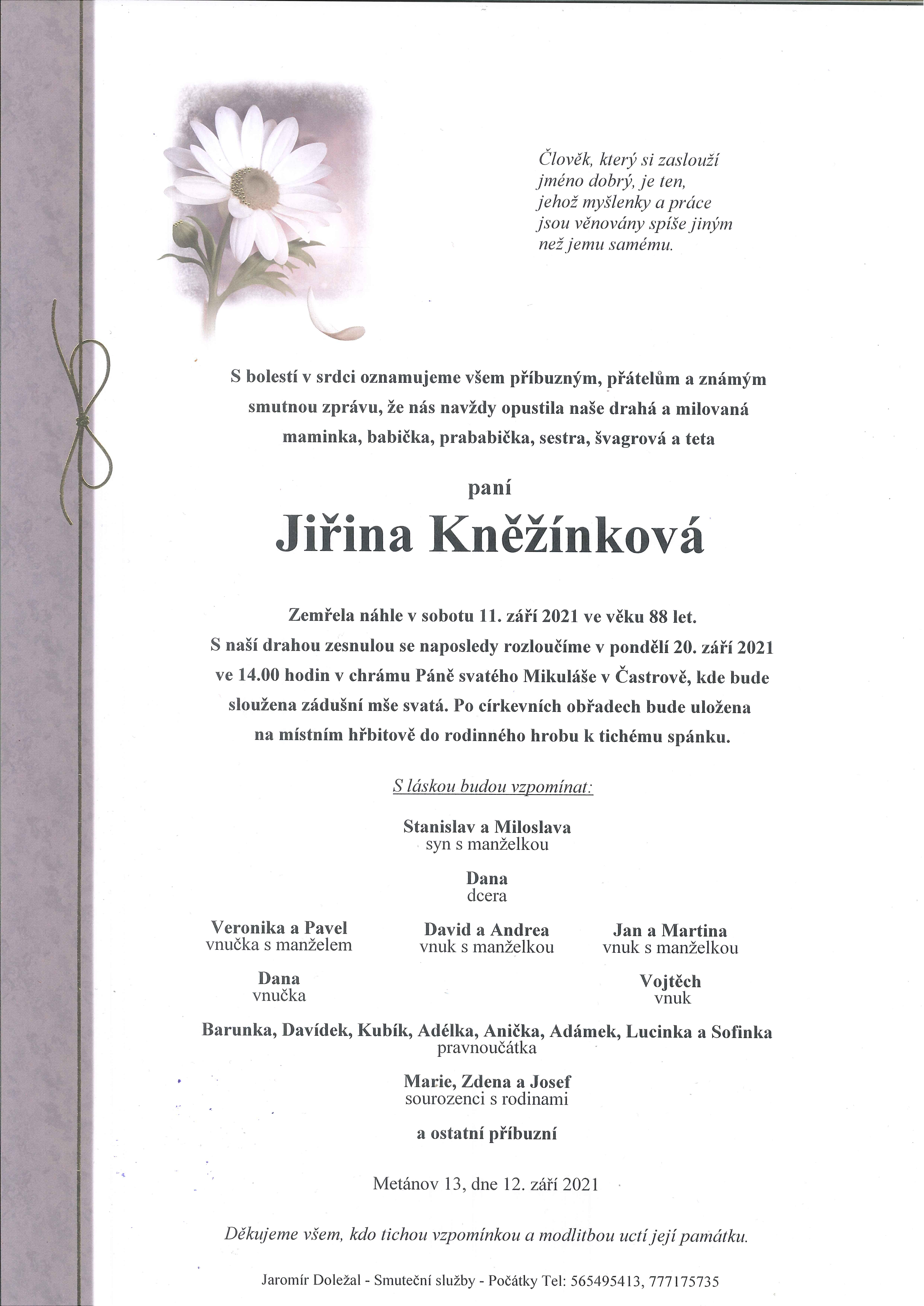 Jiřina Kněžínková
