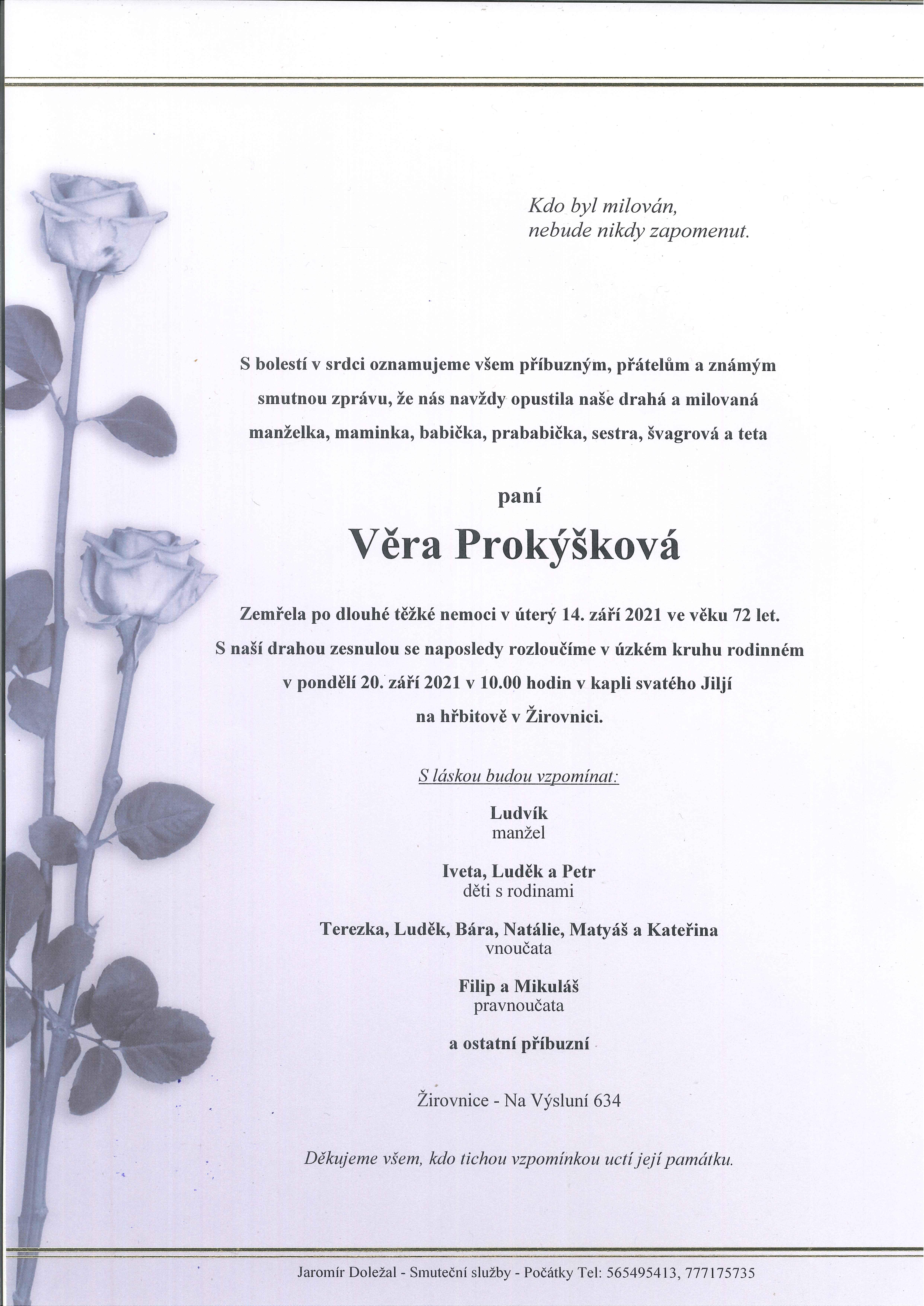 Věra Prokýšková